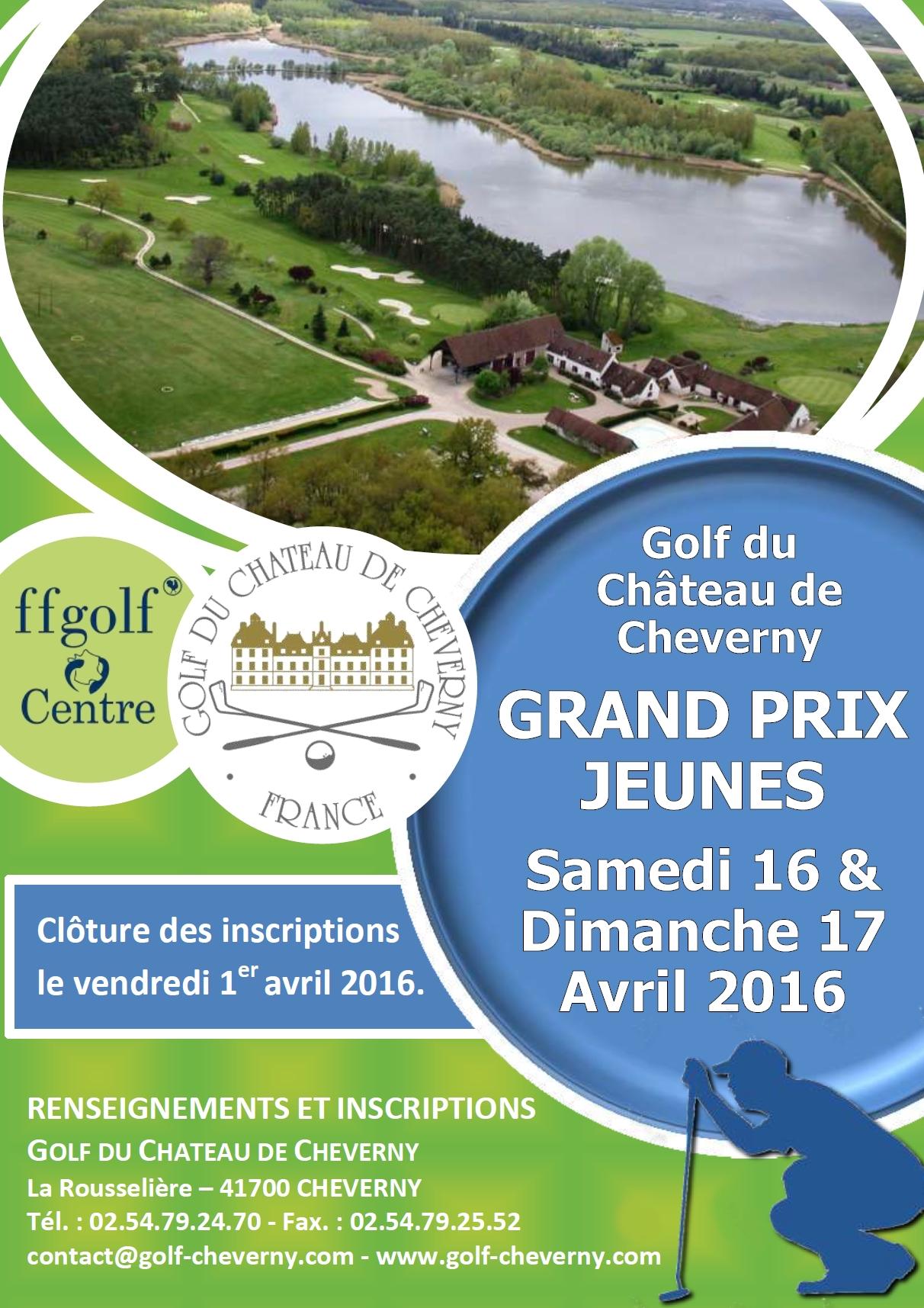 Affiche Grand Prix Jeunes Cheverny 2016